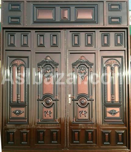 Brown metal gate with patterns