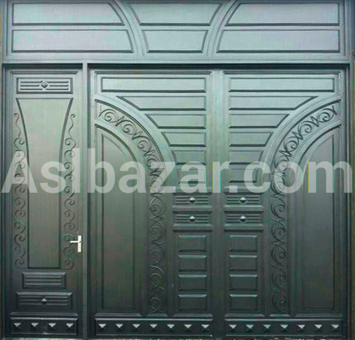 "Black gate in ""Modern"" style"